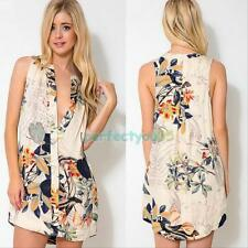 Sexy Summer Mini Sexy Women Floral Sleeveless Casual Evening Party Short Dress