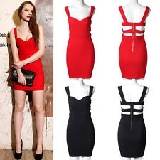 New Women Sleeveless Bandage Summer Casual Party Evening Cocktail Mini Dress