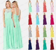 New Formal Wedding Long Lace Women Prom Evening Party Bridesmaid Dress Size 6-18