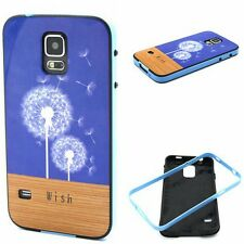 Novel Blue Dandelion 2in1 Glossy Anti-Shock Soft Gel TPU Case Cover for phones