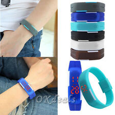 New Womens Mens Silicone Digital LED Sports Touch Bracelet Wrist Watch