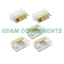 5x20mm, PCB or Panel Mount Fuse Holder, Case with Cover, Pack of  2 or 5