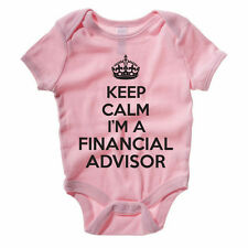 KEEP CALM I'M A FINANCIAL ADVISOR - FInance / Novelty Themed Baby Grow /Suit