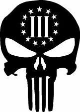 5 INCH PUNISHER 3 PERCENTER DECALS/STICKERS AR15 SPIKES TACTICAL NRA MOLON LABE