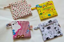 Qteen Cute Handmade Fabric Coin Purse Bag Wallet Hello Kitty Cherry Sheep Whale