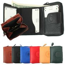 Small Purse with zipper Leather Mini Purse compact Wallet