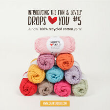 NEW STOCK! DROPS ♥ LIMITED EDITION ♥ 100% RECYCLED COTTON YARN,RUSTIC,SUMMER 50g