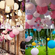 "Multicolor Chinese Paper Round Lanterns Wedding Party Decor Decoration 6"" 8"" 10"""