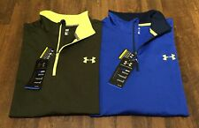 NEW UNDER ARMOUR MEN'S GREEN / BLUE COLDGEAR EVO 1/4 ZIP LOOSE FIT TOP SIZE S-XL