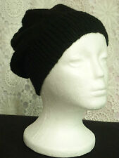 Unisex adult hand-kitted wool slouchy-beanies sew-ezy-australia