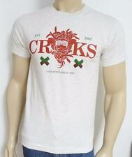 Crooks & Castles Snotty Can't Resist Killin'  Mens Pale Gray T-Shirt New NWT
