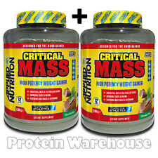 2 x 2.89kg Applied Nutrition Critical Mass Serious Hard Gainer Various Flavours