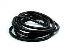 Black Genuine 4mm Round LEATHER String CORD for Making Bracelet Necklace