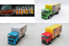 Affluent Town 1:64 DIECAST Man Small Container Truck Green / Red / Blue Model