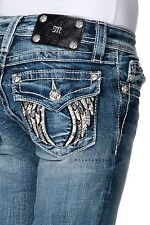 MISS ME Girls Angel Wings Faux Leather Boot Jeans Sizes 7 8 10 12 14 16