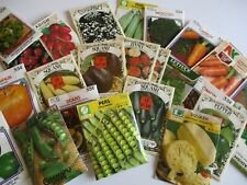 VEGETABLE SEED PACKETS 1980's UNOPENED FACTORY SEALED SEED PACKS SOLD SEPARATELY