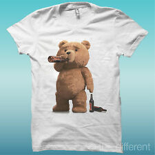 T-SHIRT TED DRINK BEER ORSO BIRRA FILM THE HAPPINESS IS HAVE MY T-SHIRT NEW