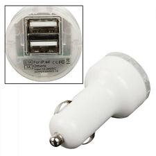 USB 2 PORT CAR CHARGER ADAPTOR WHITE NOKIA HTC FOR APPLE 6 SMARTPHONE HIGH GRADE