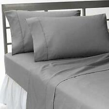 1000TC100% EGYPTIAN COTTON BEDDING'S ITEMS ALL SIZE AVAILABLE SILVER GREY SOLID
