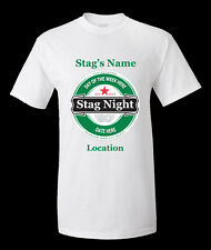 STAG NIGHT 1 FULLY PERSONALISED  T -SHIRT  POLYESTER