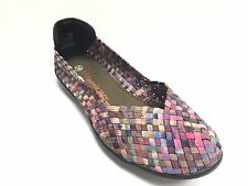 Women's Shoes Bernie Mev. Catwalk Casual Slip On Flats Pink Camo *New*