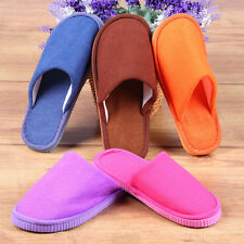 Men Women Soft Warm Indoor Slippers Cotton Sandal House Home Anti-slip Shoes OE