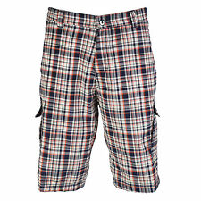 OCTAVE® Mens Comfortable Woven Check Shorts - Perfect Summer / Beach Wear