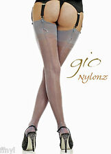 Gio Fully Fashioned Stockings PEWTER Grey (NEW!)  All Sizes Imperfects