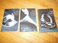E L James~ Fifty (50) Shades of~Trilogy - Darker/Grey/Freed~Nice Set 3 Books~