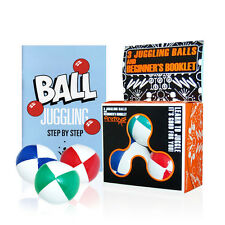 Firetoys 3x Juggling Ball Gift Set - White/Colour w/ How to Juggle Book & Box