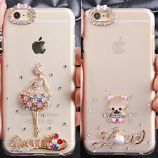 Cute Shine Bling Transparent Clear Crystal Hard Back Case Cover Skin for Samsung