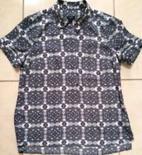 NWT J.CREW printed collared popover