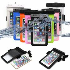 8 Colors 6 Inch Waterproof Underwater Touchscreen Dry Pouch Bag For Cell Phone