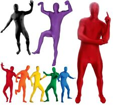 Skin Suit -Red Yellow Green Blue Black Pink White Orange Morphsuit Morph Costume