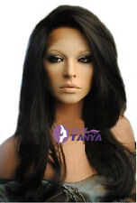 Natural Straight Full/Front Lace Wig with baby hair/Bleached Knots Density 130%
