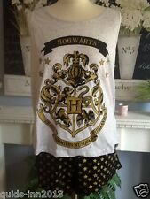 HARRY POTTER PYJAMAS SHORTS VEST TOP SET SLEEP WEAR FESTIVAL UK 6 - 20