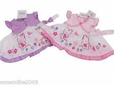 BNWT baby girls pink or lilac pussy cat dress knickers & hairband NB 0-3 3-6 m