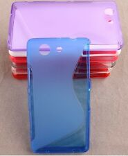 soft S-LINE SILICONE GEL CASE COVER & FREE stylus FOR SONY EXPERIA M4 AQUA