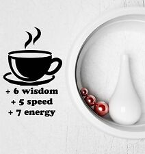 Wall Decal Funny Coffee Cup Kitchen Cafe Tea Video Game Vinyl Stickers (ig2757)