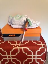 NWB Womens Avia White/green Leather And Mesh Running Shoes