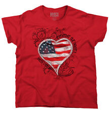 American Pride Womens T Shirt  Remember Our Soldiers Bless Them All Love Flag