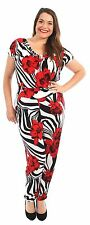 New Womens Cowl Neck Short Sleeve Alibaba Pants Floral Jumpsuits