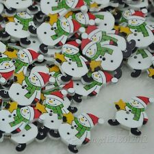New 10/50/100pcs Christmas snowman Sewing Wood button For Kid's Gift Craft