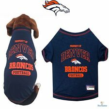 NFL Pet Fan Gear DENVER BRONCOS Tee T Shirt Tank for Dog Dogs Puppy Puppies
