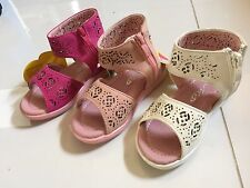New Girls Kids Youth Gladiator Strappy Flat Sandals Shoes ( SIZE 5-9 )