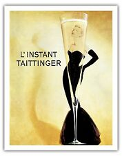 Taittinger Moment Champagne Vintage Advertising Art Poster Print Giclee
