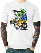 Rat Rod Funny Cartoon T Shirt Ratty Hot Rod Drag Racing Small to 6XL and Tall