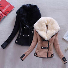 Fashion Women's Vintage Slim Biker Motorcycle PU Soft Leather Zipper Jacket Coat