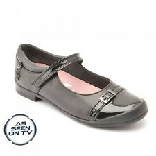 Startrite PURRFECT Size 9 - 1.5 New Girl Dolly School Shoes Black Leather Patent