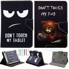 Universal Don't Touch My Pad Leather Case Cover For 7 inch Tab Android Tablet PC